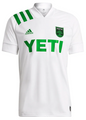 Adult Austin FC 2021-22 White Secondary Football Shirt/Jersey With Free Name & Number