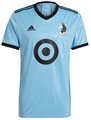 Adult Minnesota United FC 2021-22 Light Blue Football Shirt Soccer Jersey With Free Name & Number