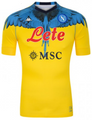 Adult SSC Napoli 2021-22 Burlon Yellow Ltd Edt Football Soccer Shirt With Free Name& Number