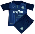 Kids SE Palmeiras 2021-22 Home GK Kit With Free Name & Number