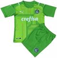Kids SE Palmeiras 2021-22 Away GK Kit With Free Name & Number