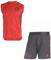 Kids Flamengo 2021-22  Vest Football Soccer Kit With Free Name&Number
