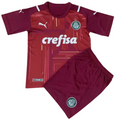 Kids SE Palmeiras 2021-22 Third GK Kit With Free Name & Number
