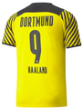 Adult BvB Dortmund 2021-22 Home Football Shirt Soccer Jersey With Free Name&Number