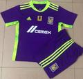 Kids Tigres U.A.N.L. 2021 Club Work Cup Goalkeeper Soccer Football Kit With Free Name&Number