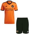 Kids Houston Dynamo FC 2021-22 Orange Soccer Football Kit With Free Name & Number