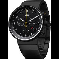 Braun - Men's Prestige Analog Watch - Swiss chrono movement, black steel link band