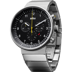 Braun - Men's Prestige Analog Watch - Swiss chrono movement, stainless steel link band