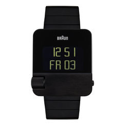 Braun - Men's BN-106BKBTG Prestige Digital - Black Steel Case, Black Steel Strap