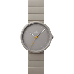 Braun - Men's BN-171GYGYG Ceramic Analog watch, Matte Grey