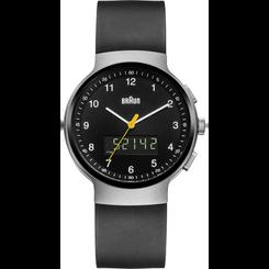 Braun - Men's BN-159SLBKBKG Analog/Digital, dual time, chronograph + date
