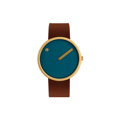 Rosendahl - Picto - Gold Case / Blue Green Dial / Brown Leather Band RD-43376