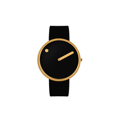 Rosendahl - Picto - Gold Case / Black Dial / Black Silicone Band RD-43387