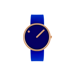 Rosendahl - Picto - Rose Gold Case / Blue Dial / Blue Silicone Band RD-43391
