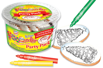 Evergreen Cookie Coloring Party Pack