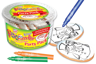 Snowman Cookie Coloring Party Pack