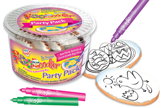 Chic & Eggs Cookie Coloring Party Pack