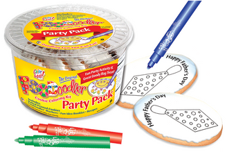 Tie Cookie Coloring Party Pack