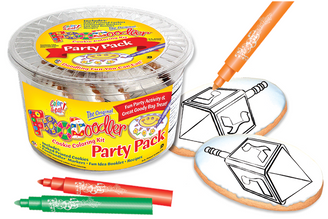 Dreidel Cookie Coloring Party Pack