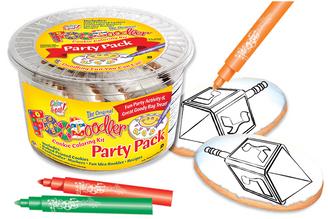 Dreidel Cookie Coloring Party Pack