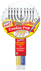 Menorah Cookie Pop