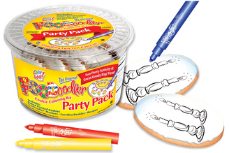 Candles Cookie Coloring Party Pack
