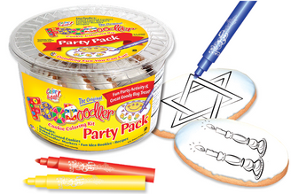 Star of David & Candles Coloring Party Pack