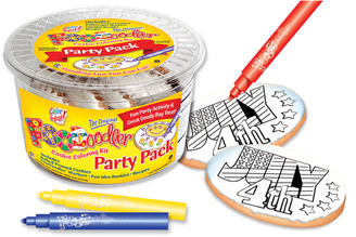 4th of July Cookie Coloring Party Pack