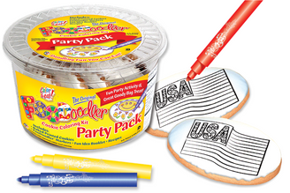 Flag Cookie Coloring Party Pack