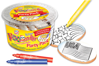 Fireworks & Flag Cookie Coloring Pack