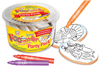 Turkey & Pilgrims Cookie Coloring Pack