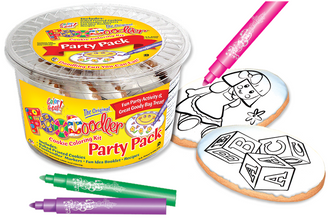 Blocks & Doll Cookie Coloring Party Pack