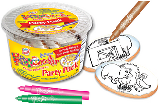 Pig, Duck & Barn Cookie Coloring Party Pack