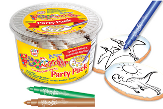 Pteranodon & T-Rex Cookie Coloring Party Pack