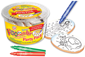 Astronaut & Earth Cookie Coloring Party Pack