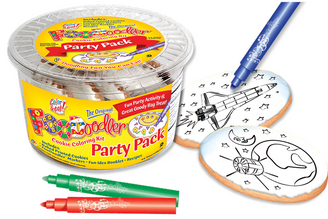 Spaceship & Earth Cookie Coloring Party Pack
