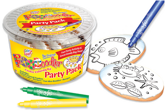 Sea Floor & Fish Cookie Coloring Party Pack