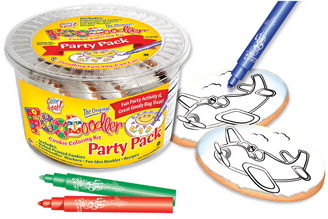 Airplane Cookie Coloring Party Pack
