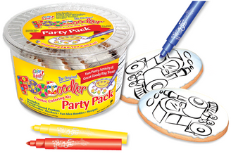 Train Cookie Coloring Party Pack