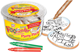Train & Truck Cookie Coloring Party Pack