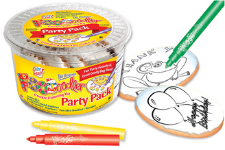 Thank You Frog & Balloon Cookie Coloring Party Pack