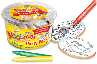 Thank You Frog & Clown Cookie Coloring Party Pack