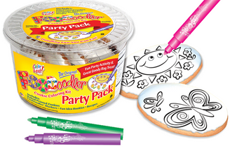 Butterfly & Sun Cookie Coloring Party Pack