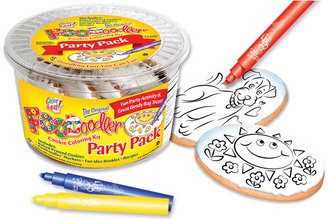 Puppy & Sun Cookie Coloring Party Pack