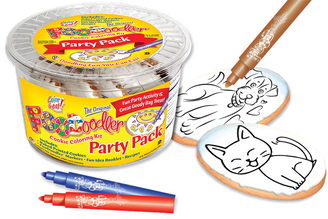 Cat & Puppy Cookie Coloring Party Pack