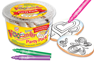 Butterfly & Heart Cookie Coloring Party Pack