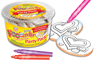 Hearts Cookie Coloring Party Pack