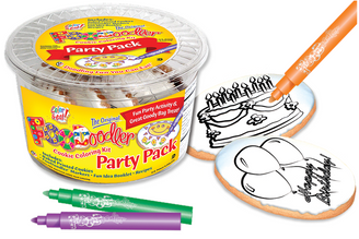 Balloons & Cake Cookie Coloring Party Pack