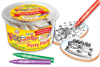 Clown & cake Cookie Coloring Party Pack