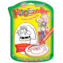 Santa Cookie Coloring Kit